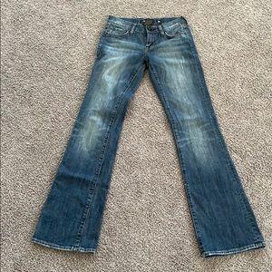 Ed Hardy rear pocket in Beliste jeans